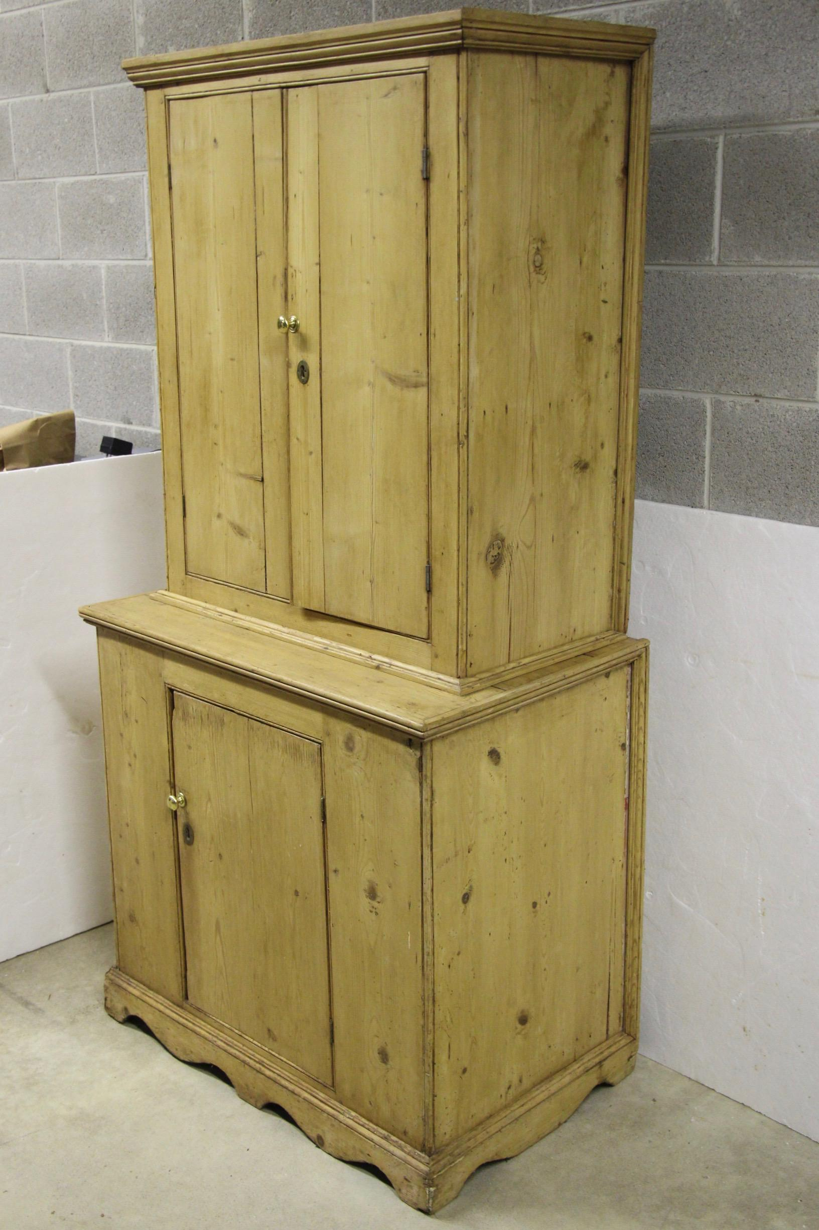 Lots Of Rustic Appeal To This Knotty Pine Hutch. Believed To Be Early 1900s,