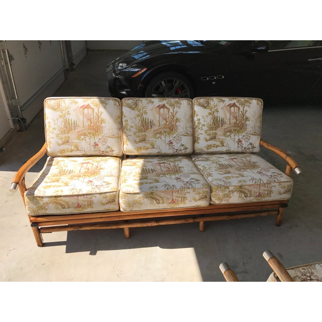 Bamboo Sofa & Chairs - Set of 3 - Image 4 of 7