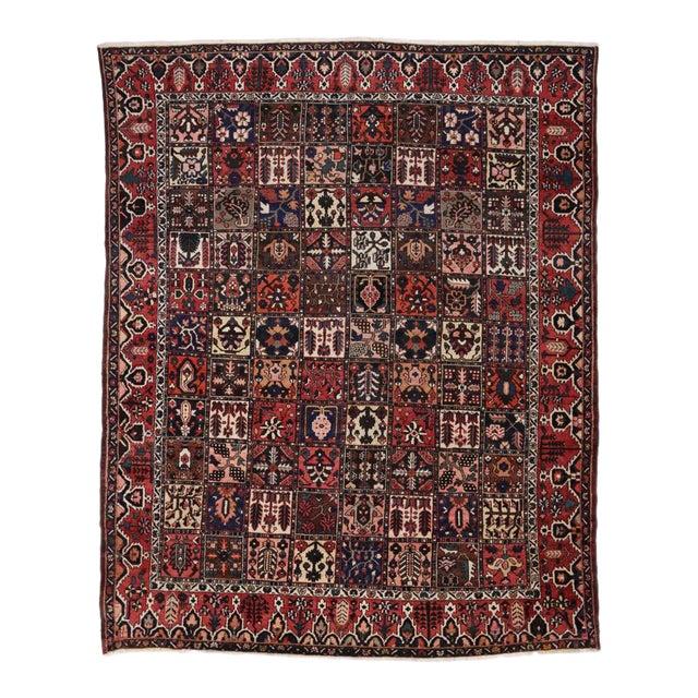Antique Persian Bakhtiari Rug with Four Season Garden Design For Sale