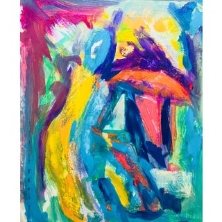 "Abstract Fauve Original Acrylic Painting ""The Farmer"" by Erik Sulander"