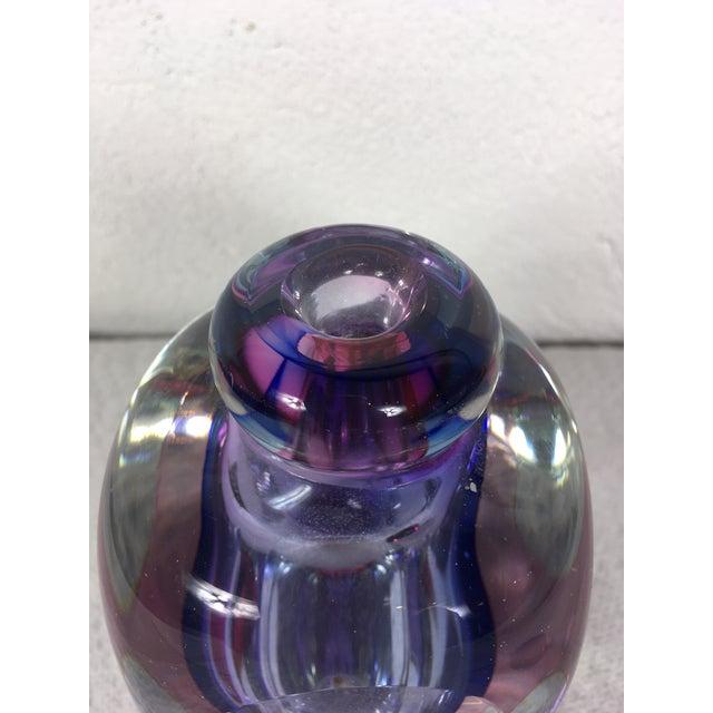 Marano Flavio Poli for Suguso Hand Blown Glass Perfume Bottle For Sale - Image 10 of 13