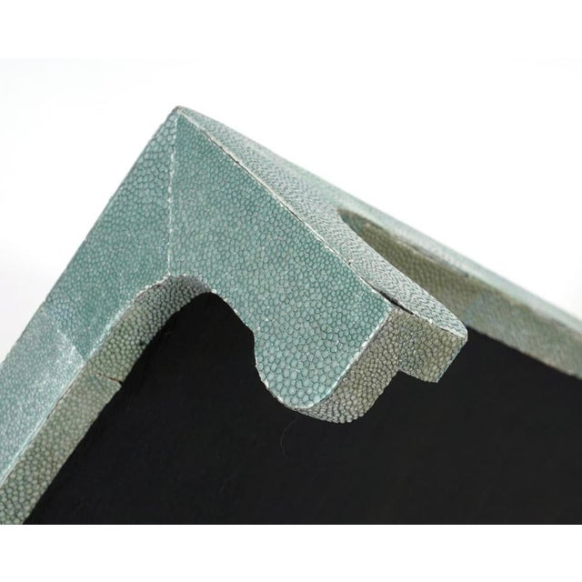 Mid-Century Modern Vintage Shagreen Table Stand For Sale - Image 3 of 9