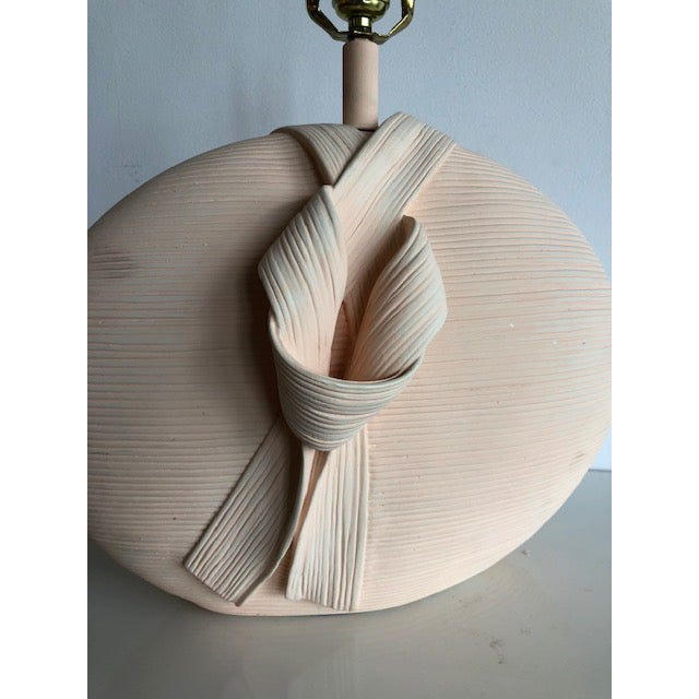 Ceramic 1980s Sculptural Pottery Lamp For Sale - Image 7 of 8