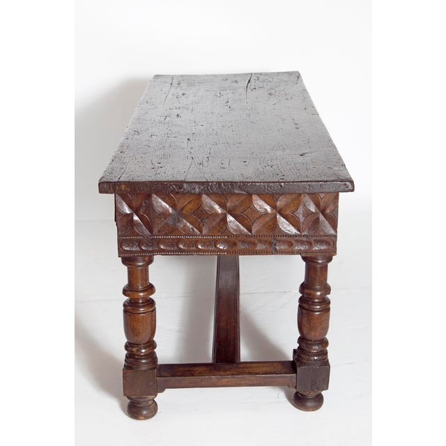 Late 17th Century Spanish Baroque Walnut Center Table For Sale In Dallas - Image 6 of 13