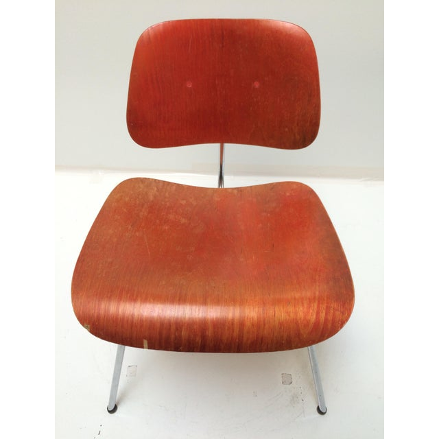 Herman Miller DCM Chair Red Aniline - Image 7 of 11