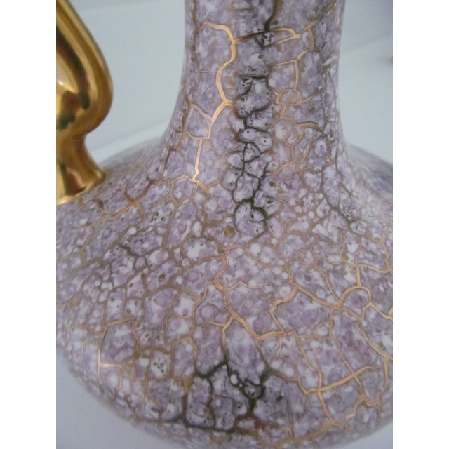 Crackle Pottery Pitcher Vase - Image 4 of 5