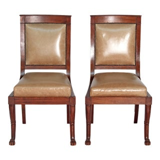 Pair of French Neoclassical Chairs