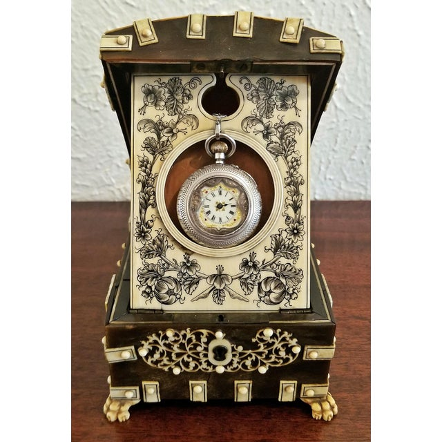 18th Century Anglo-Indian Vizigapatam Pocket Watch Display Box For Sale - Image 13 of 13