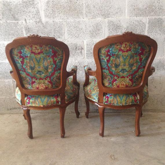 Multicolor Louis XVI Chairs - A Pair - Image 4 of 6