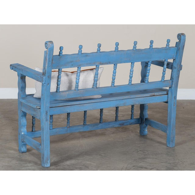 French Antique French Painted Bench circa 1890 For Sale - Image 3 of 9