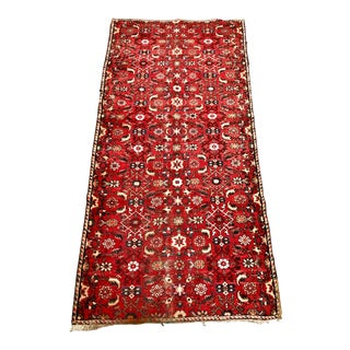 Early 20th Century Antique Persian Runner Rug - 3′10″ × 8′8″ For Sale