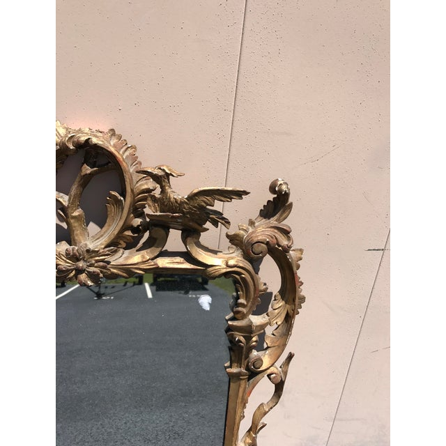 19th Century Antique English Gilt Wood Rococo Chippendale Mirrors - a Pair For Sale - Image 10 of 12