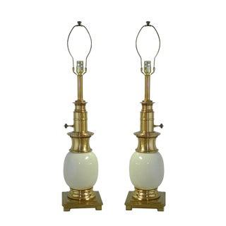 Vintage Stiffel Ostrich Lamps - a Pair For Sale