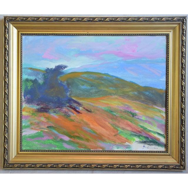 Blue Juan Guzman, Ojai California Original Impressionist Landscape Oil Painting For Sale - Image 8 of 9