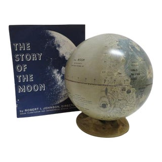 1966 Vintage Mid Century Modern Globe of the Moon For Sale