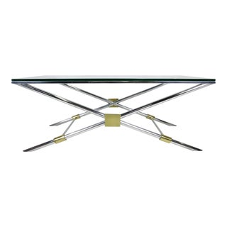 Rare John Vesey X-Base Coffee Table For Sale