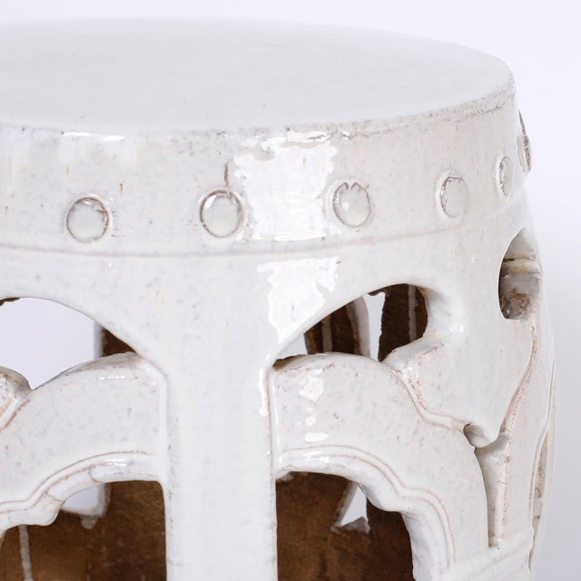 Mid 20th Century White Chinese Garden Seats - A Pair For Sale - Image 5 of 7