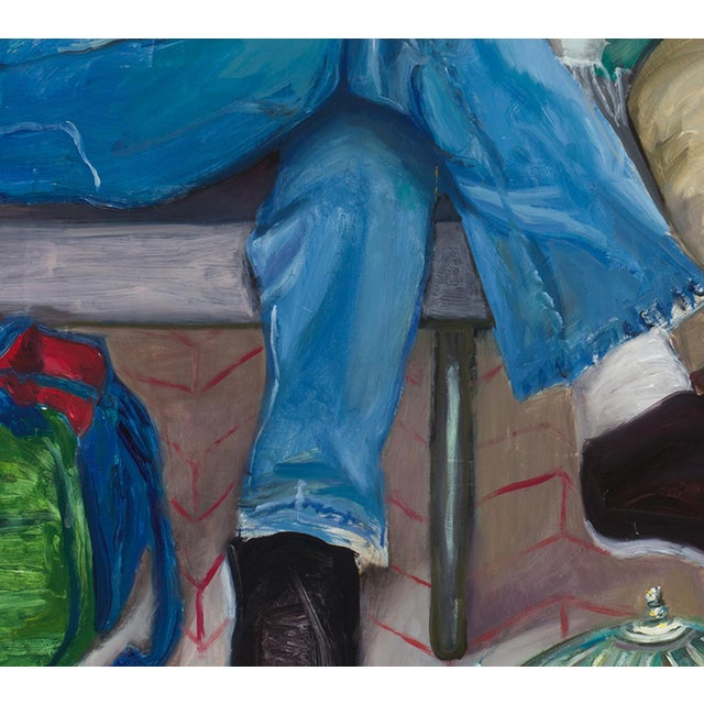 Contemporary Contemporary Portrait of People Waiting Painting For Sale - Image 3 of 5