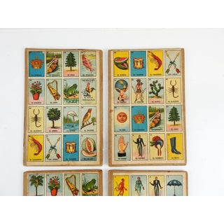 Vintage Mexican Loteria Bingo Cards - Set of 4 Preview
