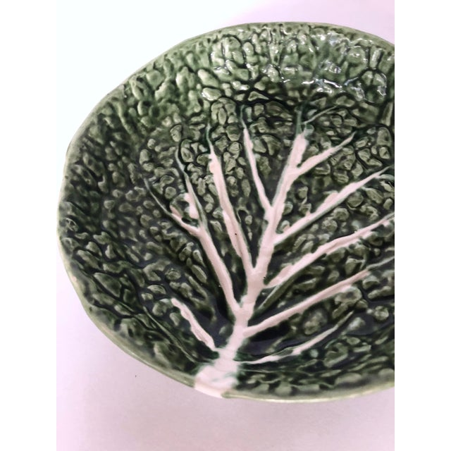 Mid 20th Century Vintage Faiancas Neto Cabbage Leaf Bowl For Sale - Image 5 of 8