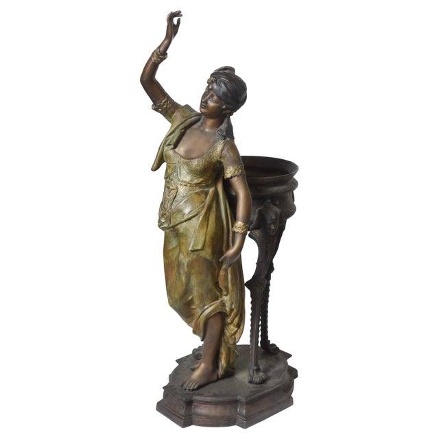 Bronze Orientalist Figural Floor Jardiniere by Peyre For Sale - Image 11 of 11