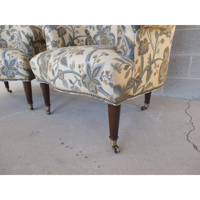 Kravet Furniture Regency Style Accent Club Chairs - A Pair - Image 4 of 11