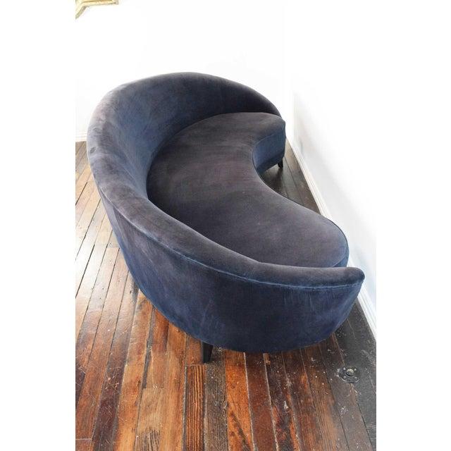 1950s Vintage Federico Munari Italian Curved Sofa For Sale - Image 11 of 12