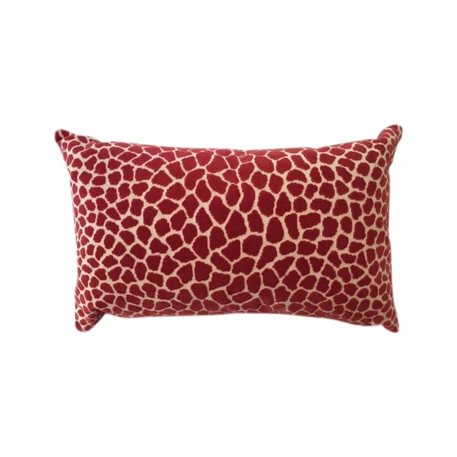 Clarence House Pink Leopard Velvet Accent Pillow - Image 1 of 4
