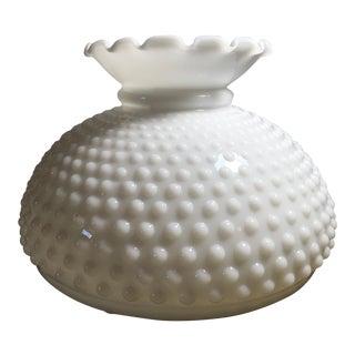 Vintage White Hobnail Milk Glass Lamp Shade For Sale
