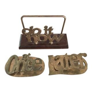 Vintage Desk Organizers - Set of 3 For Sale