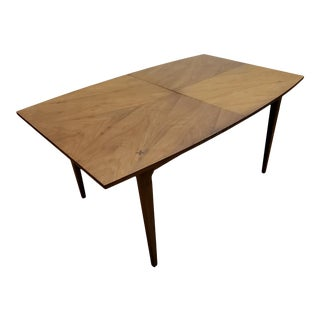 American Martinsville Danish Walnut Surfboard Dining Table For Sale