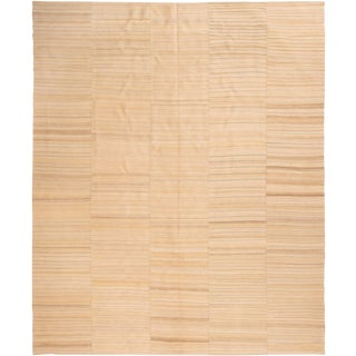 Contemporary Striped Wool Kilim Rug - 8′5″ × 10′2″ For Sale