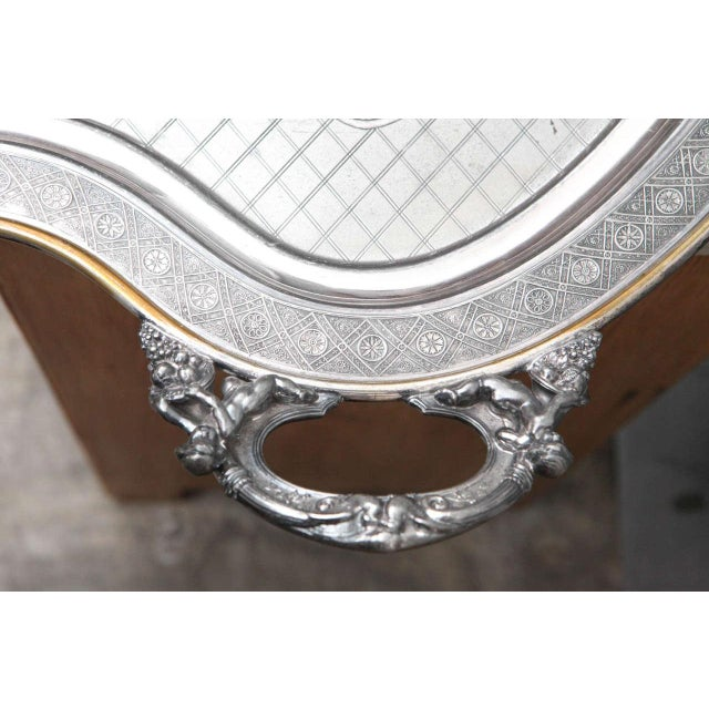 American Classical Large Butler Serving Tray For Sale - Image 3 of 8