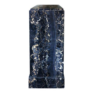 20th Century Modern Black Marble Pedestal For Sale