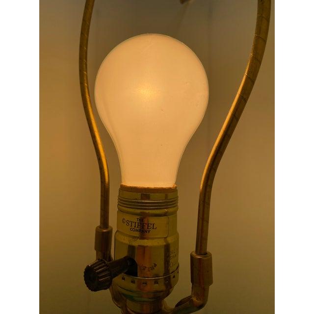 Brass Vintage 1960s Mid Century Modern Stiffel Solid Brass Column Turn Knob Lamp For Sale - Image 8 of 9