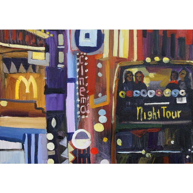 """Contemporary Large """"Nyc Lights"""" Acrylic Oil Painting by Natalia Bessonova For Sale - Image 3 of 5"""