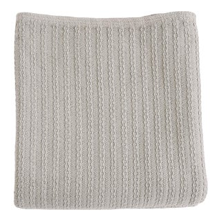 Cableknit Blanket in Grey, King For Sale