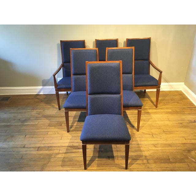 Mid-Century Walnut Kroehler Dining Chairs - Set of 6 For Sale - Image 10 of 10