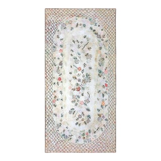 """Antique American Hooked Rug 6'0"""" X 12'0"""" For Sale"""