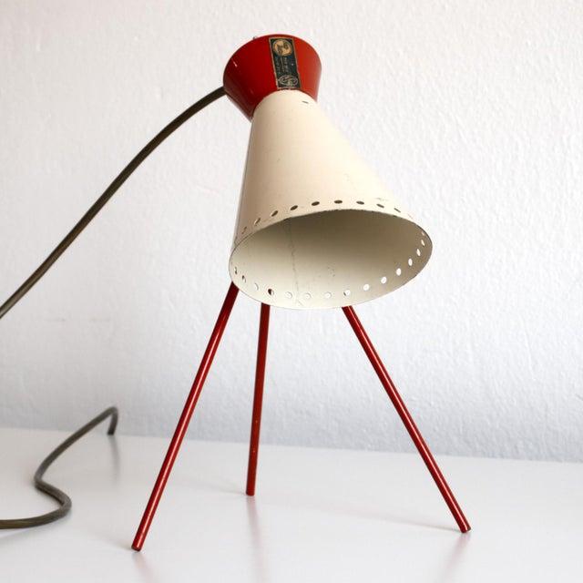 Metal 1950s Mid-Century Model 1618 Desk Lamp by Josef Hurka for Napako, Czechoslovakia For Sale - Image 7 of 13