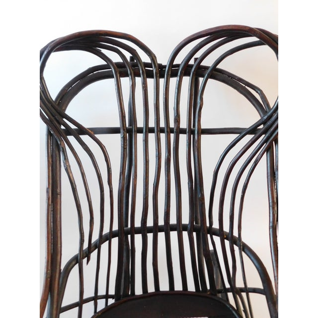 20th C. American Adirondack Twig Willow Rocking Chair For Sale In New York - Image 6 of 13