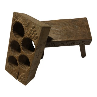 1920s Arts and Crafts Wine Holder and Cantina Chair For Sale