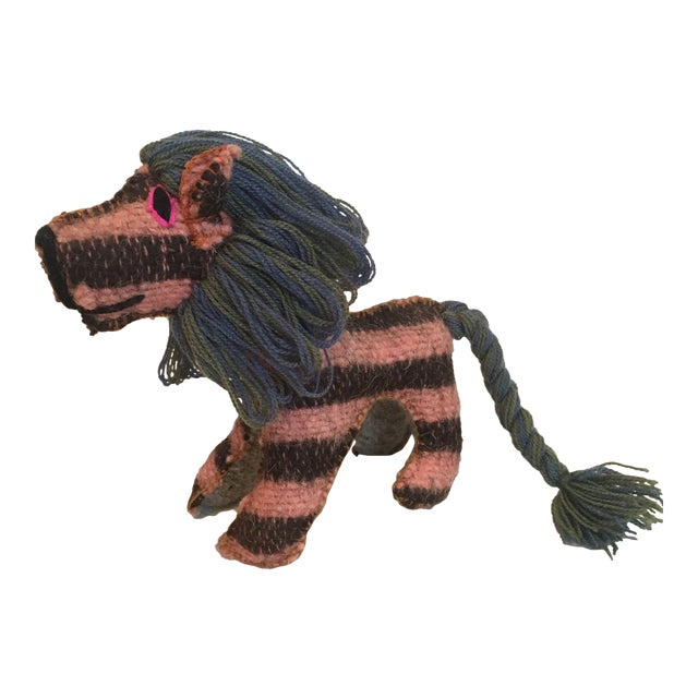 Mexican Folk Art Lion Toy For Sale