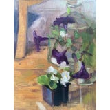 Image of Petunias and Begonias Original Oil Painting For Sale