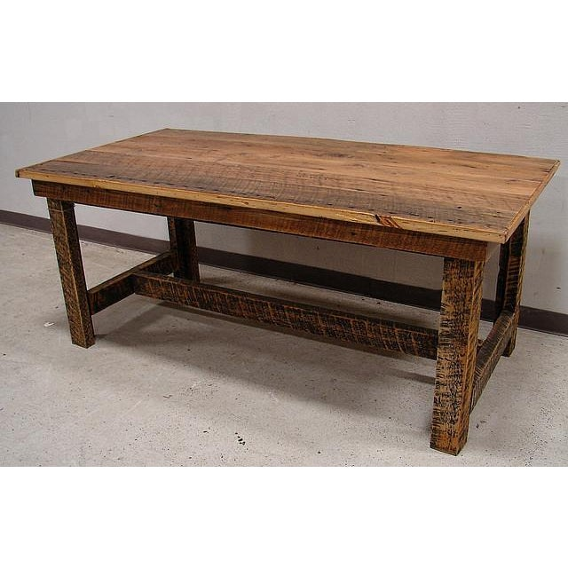 Reclaimed Harvest Farm Table - Image 2 of 3