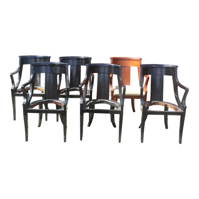 Baker Dining Armchairs - Set of 6 - Image 1 of 5