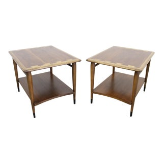 Mid-Century Modern Andre Bus Lane 'Acclaim' 2-Tiered End Tables 900-07 For Sale