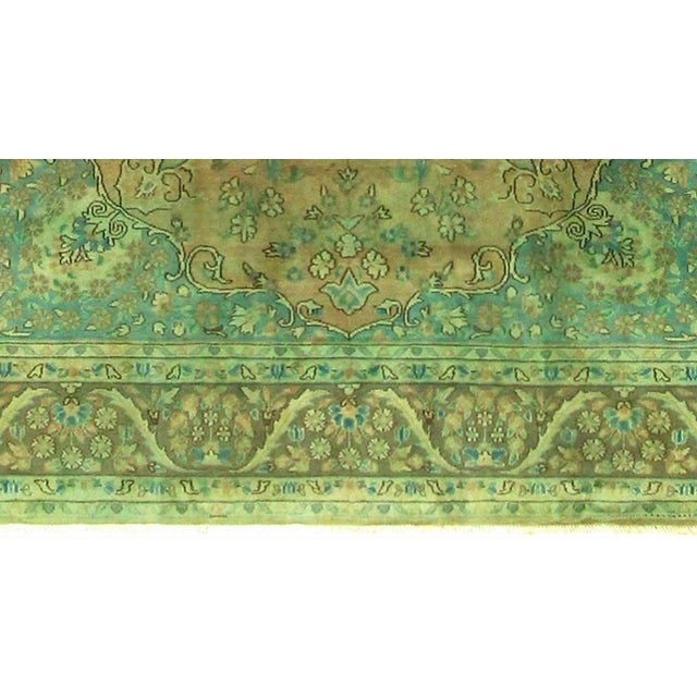 1960s Over Dyed Color Reform Shakita Lt. Brown/Lt. Green Wool Rug - 7'9 X 11'4 For Sale - Image 5 of 7