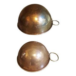 Copper Mixing Bowls - a Pair