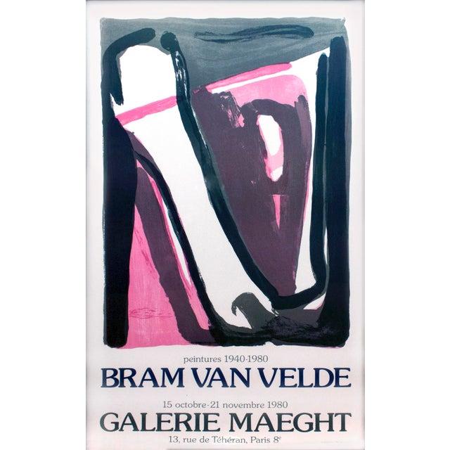 Framed Bram Van Velde at Galerie Maeght Poster - Image 2 of 4